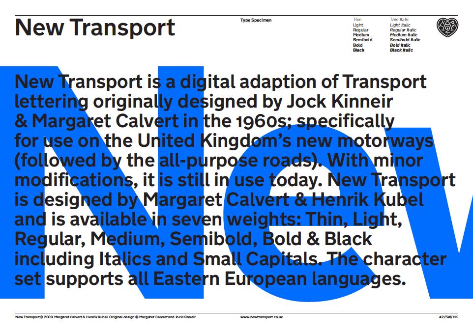 new transport type specimen